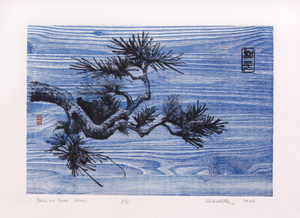 Pine on Pine Dry Point Chine Colle | xx""